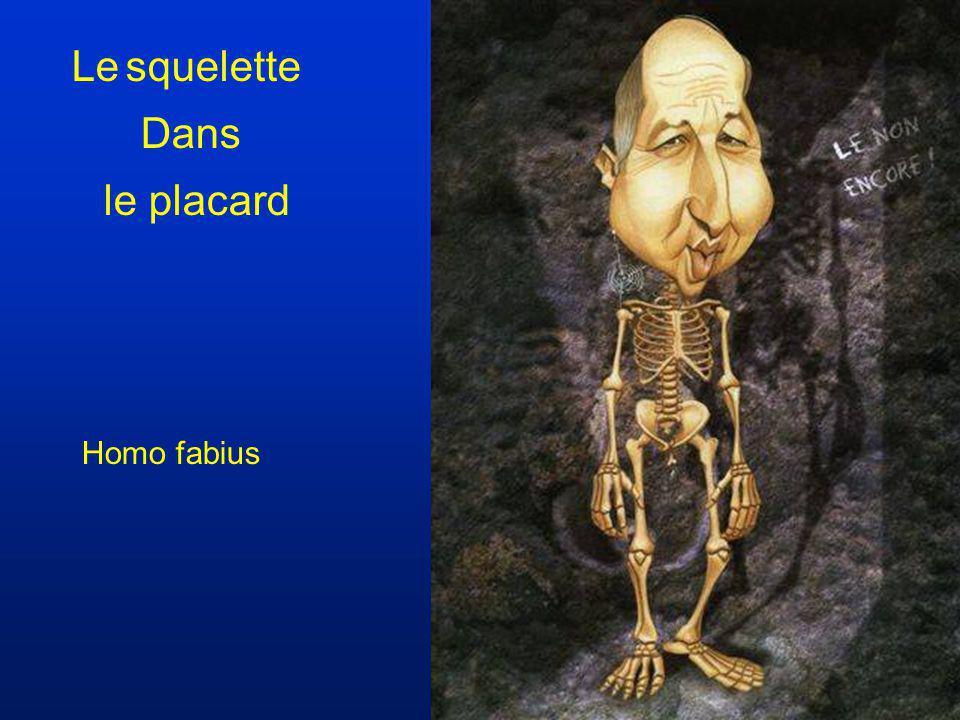 Le squelette Dans le placard Homo fabius