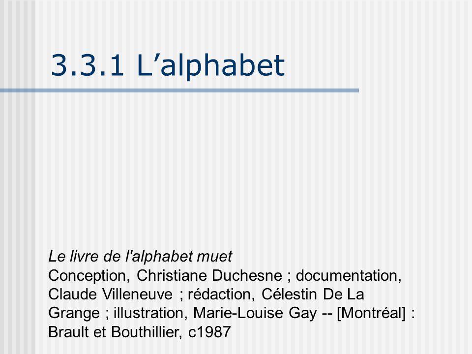 3.3.1 L'alphabet