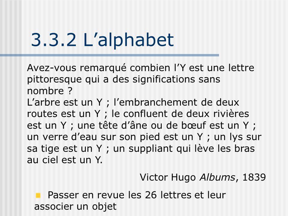 3.3.2 L'alphabet