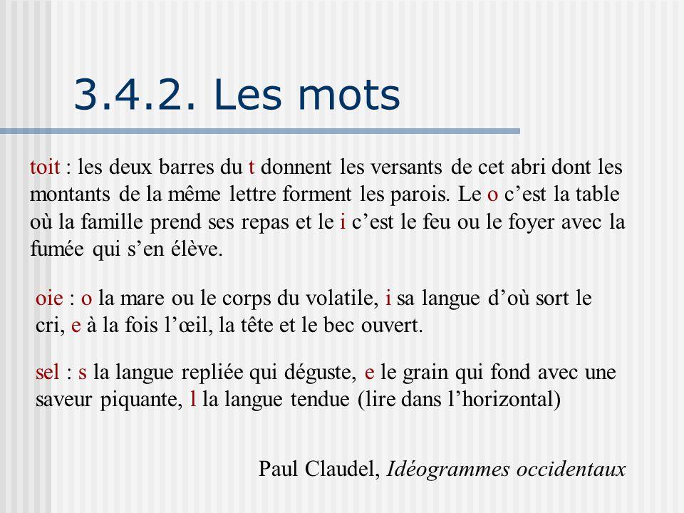 3.4.2. Les mots