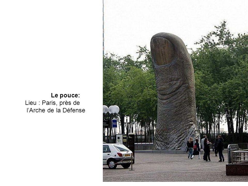 Le pouce: Lieu : Paris, près de l'Arche de la Défense