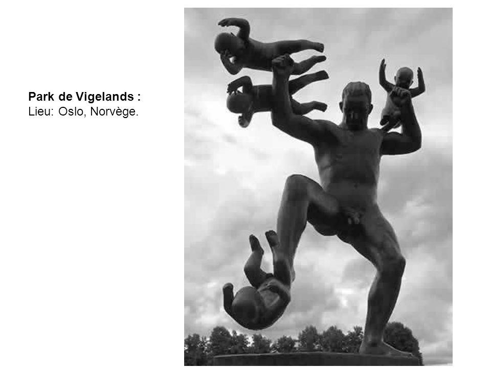 Park de Vigelands : Lieu: Oslo, Norvège.