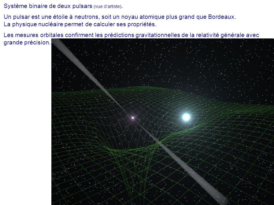 Système binaire de deux pulsars (vue d'artiste).