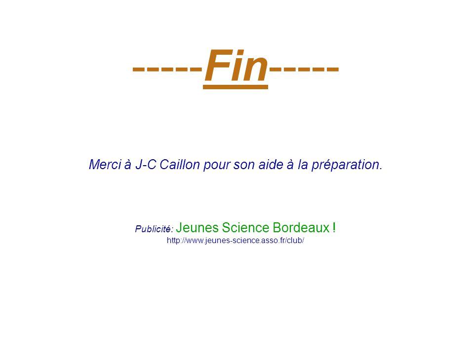 -----Fin----- Merci à J-C Caillon pour son aide à la préparation.