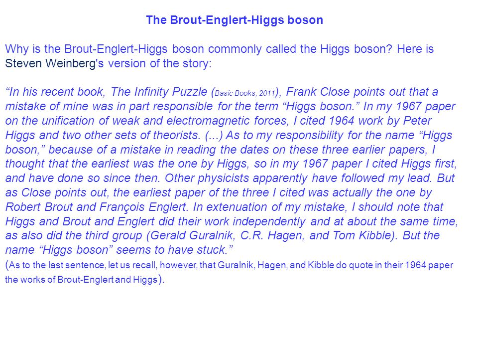 The Brout-Englert-Higgs boson