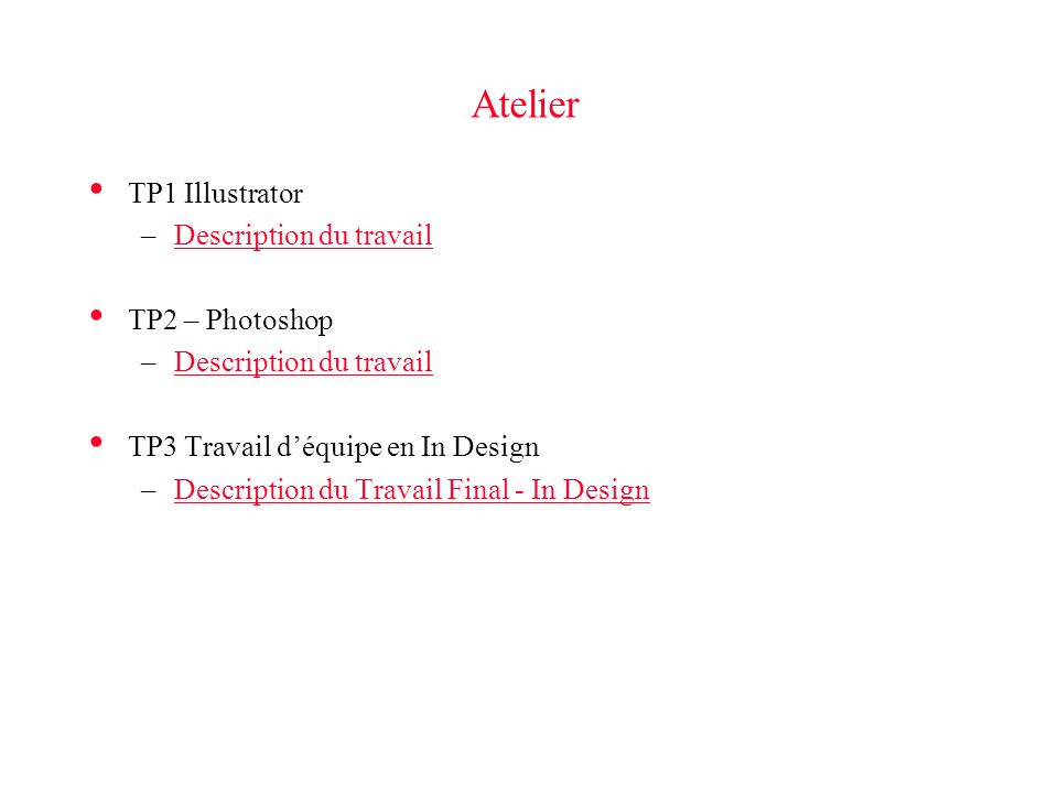 Atelier TP1 Illustrator Description du travail TP2 – Photoshop