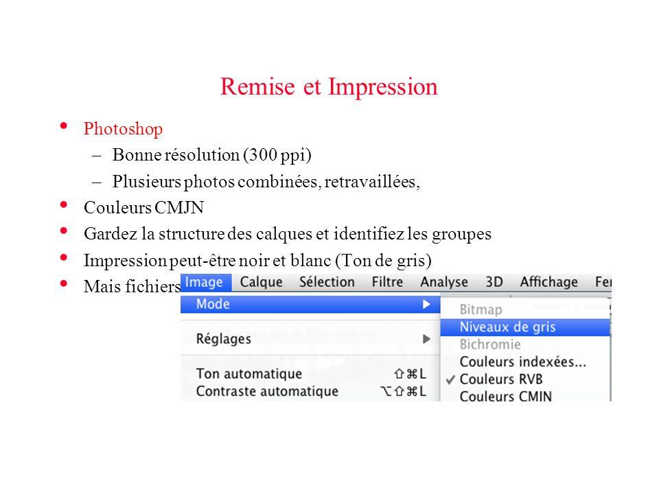 Remise et Impression Photoshop Bonne résolution (300 ppi)