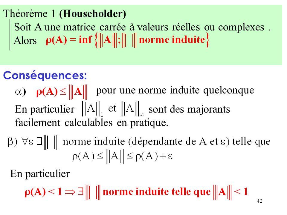 Théorème 1 (Householder)