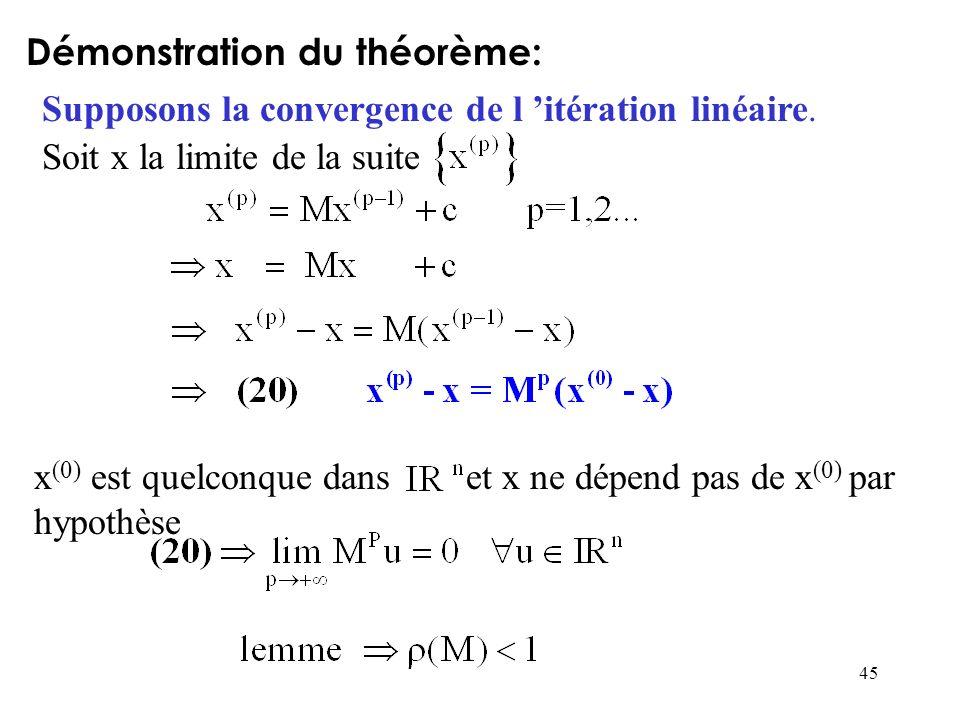 Démonstration du théorème: