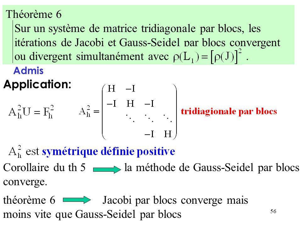 Sur un système de matrice tridiagonale par blocs, les