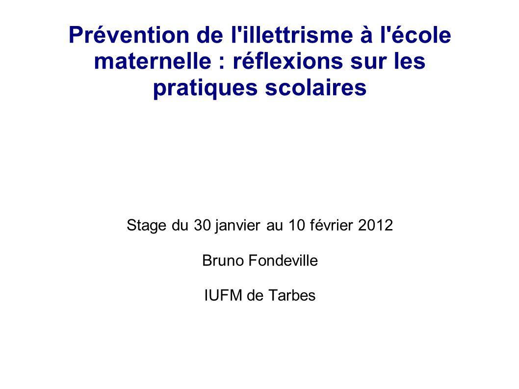 Stage du 30 janvier au 10 février 2012 Bruno Fondeville IUFM de Tarbes