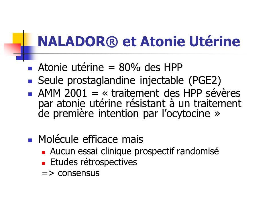 NALADOR® et Atonie Utérine