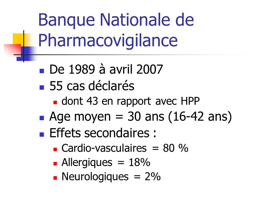 Banque Nationale de Pharmacovigilance