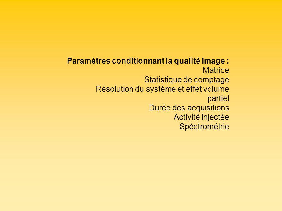 Statistique de comptage Résolution du système et effet volume partiel
