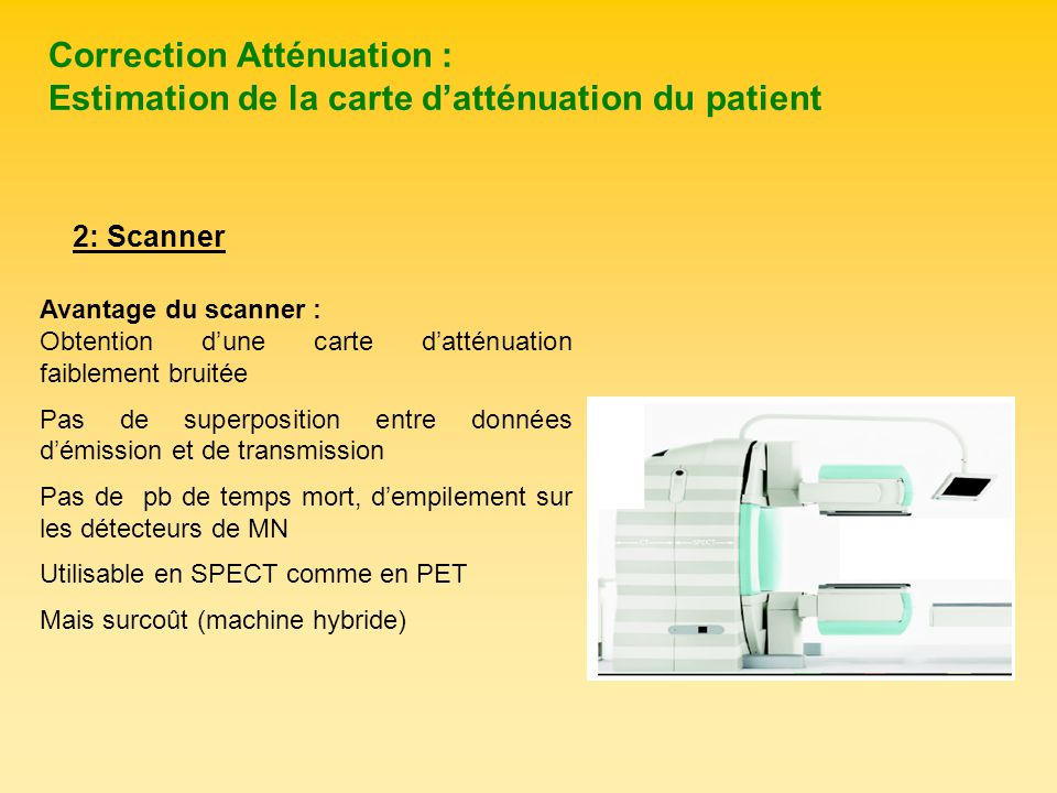 Correction Atténuation : Estimation de la carte d'atténuation du patient