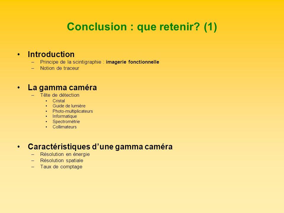 Conclusion : que retenir (1)