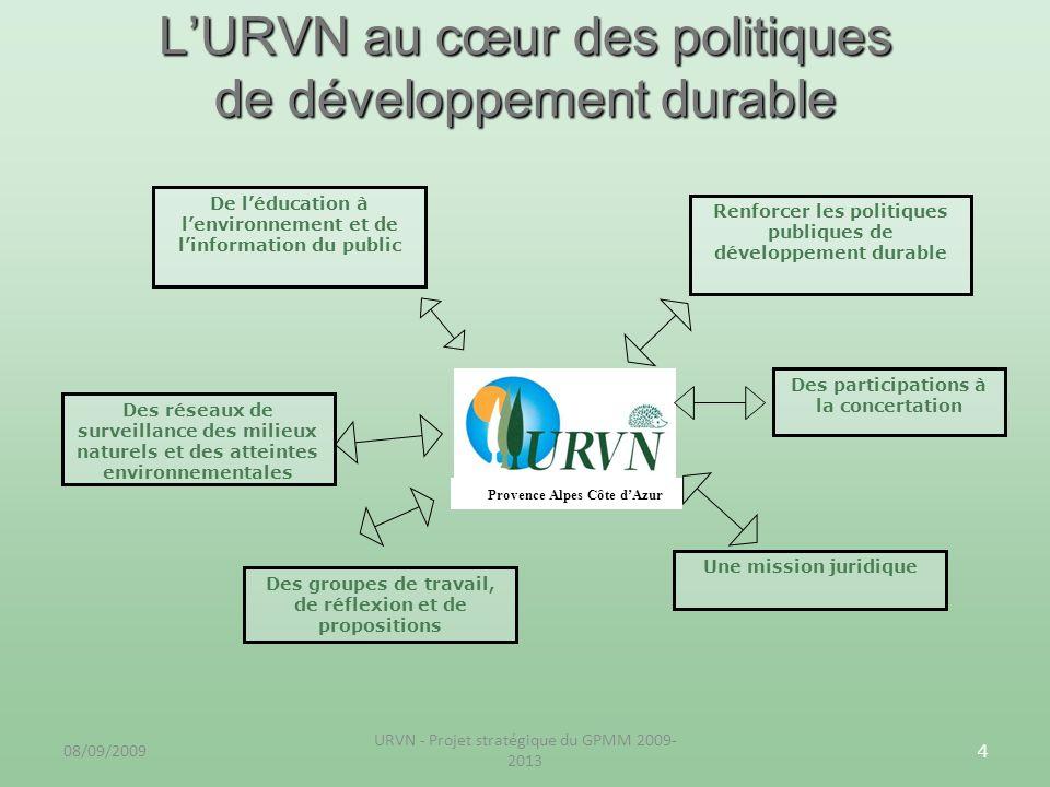 L'URVN au cœur des politiques de développement durable