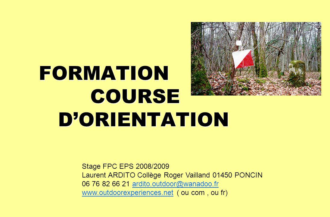FORMATION COURSE D'ORIENTATION