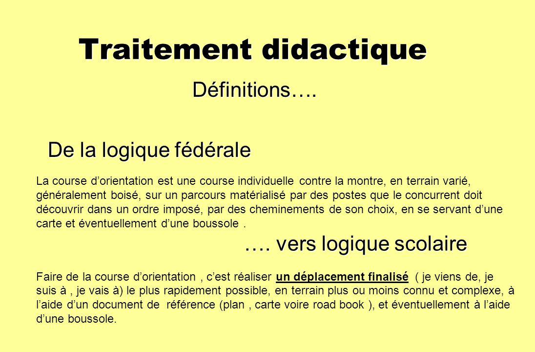 Traitement didactique