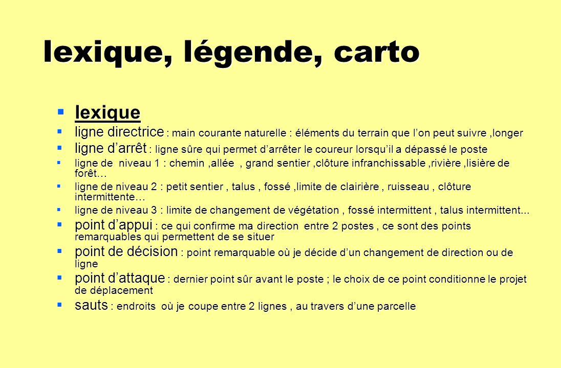 lexique, légende, carto lexique