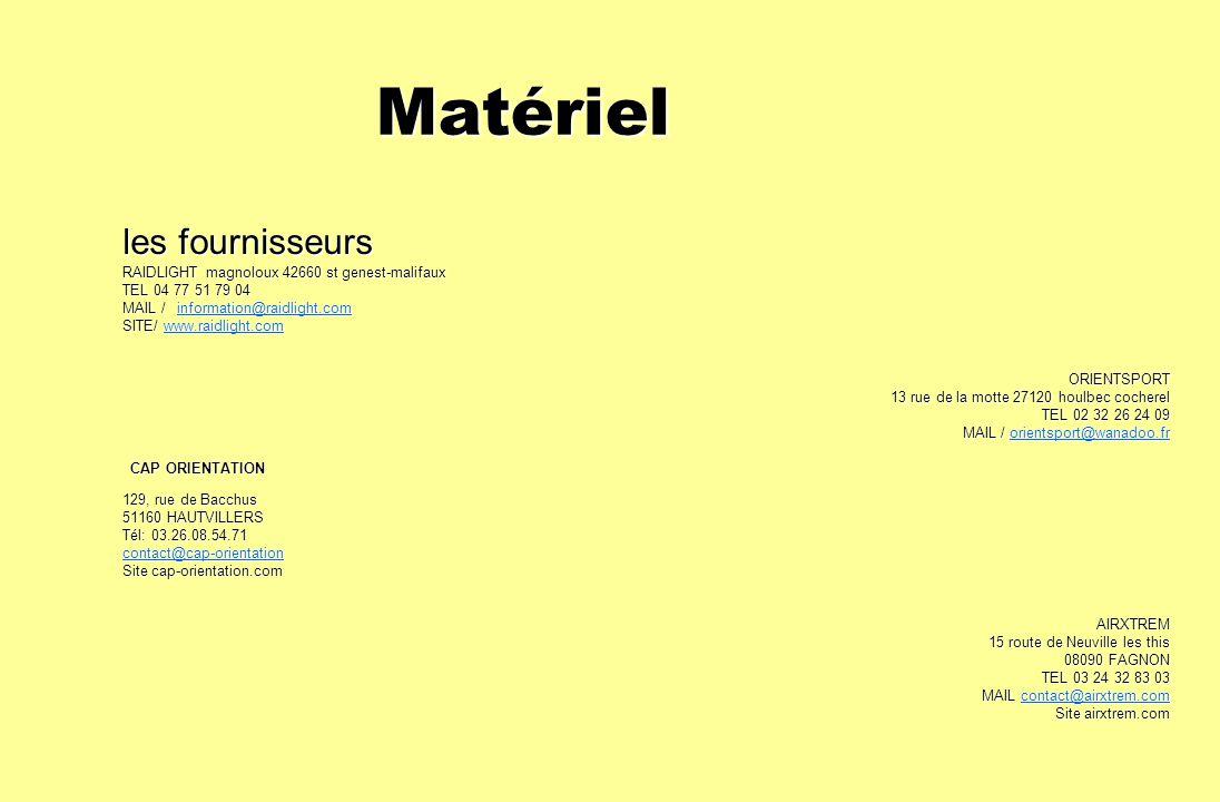 Matériel les fournisseurs RAIDLIGHT magnoloux 42660 st genest-malifaux