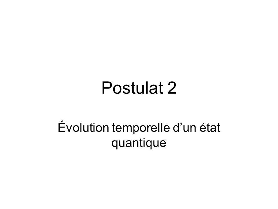 Évolution temporelle d'un état quantique