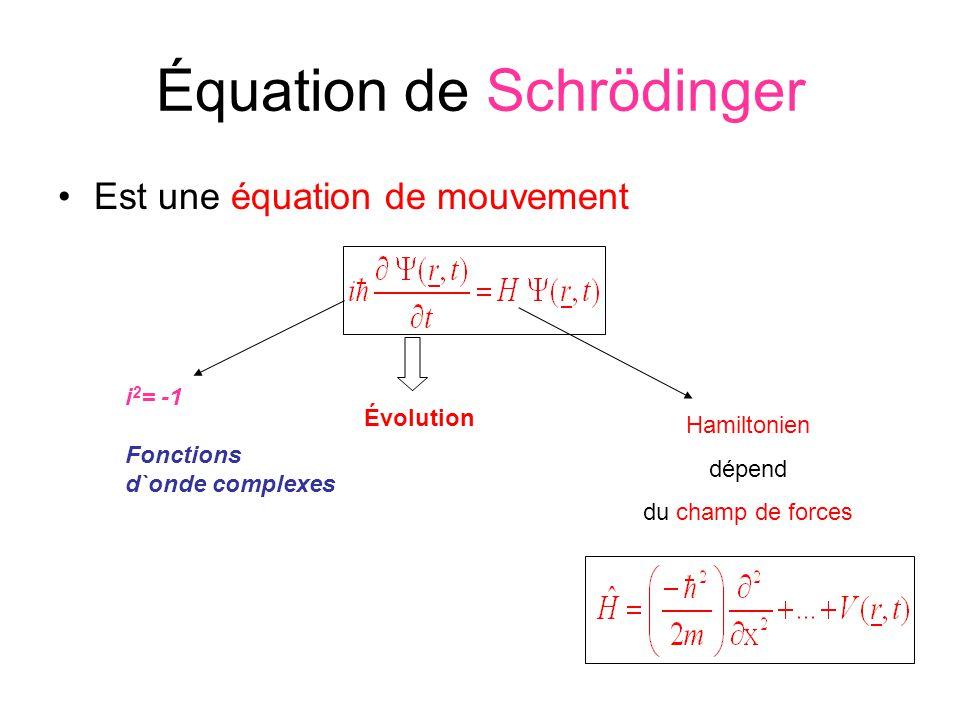 Équation de Schrödinger