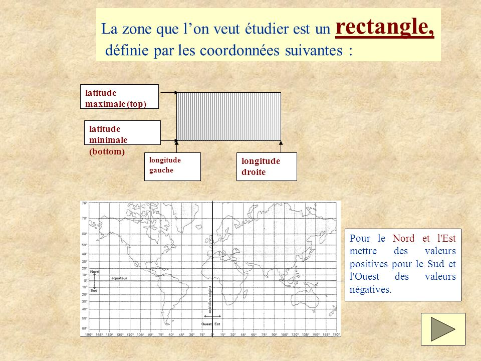 La zone que l'on veut étudier est un rectangle,
