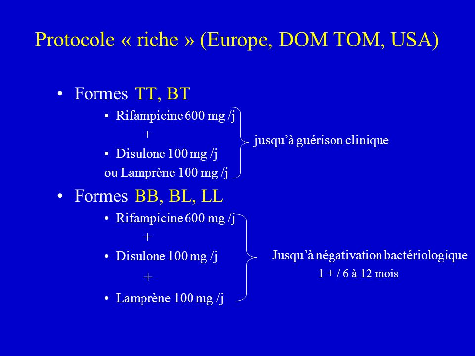 Protocole « riche » (Europe, DOM TOM, USA)