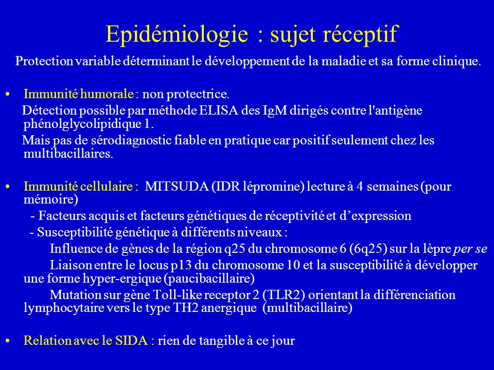 Epidémiologie : sujet réceptif