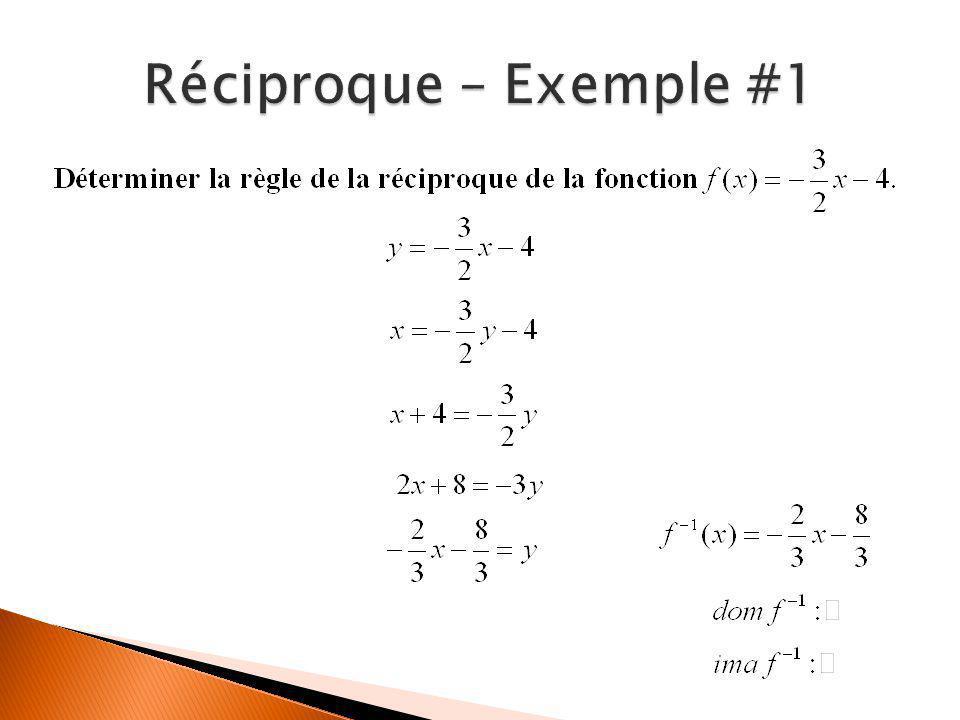 Réciproque – Exemple #1