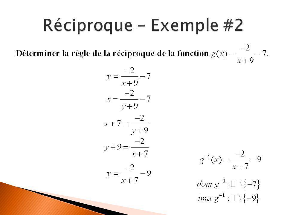 Réciproque – Exemple #2