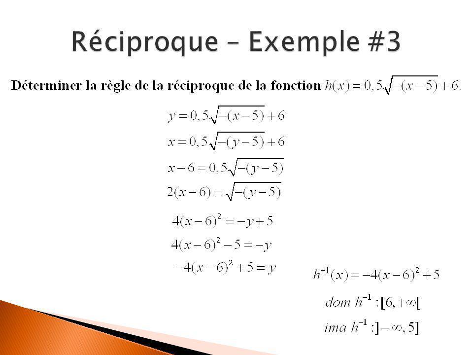 Réciproque – Exemple #3
