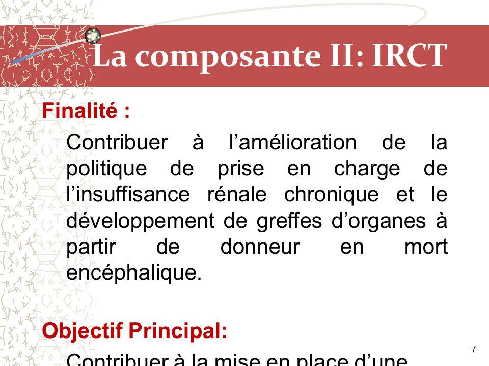 La composante II: IRCT