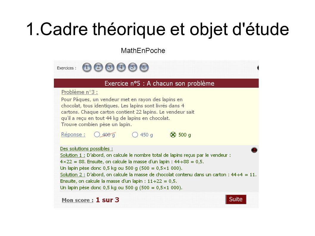 1.Cadre théorique et objet d étude