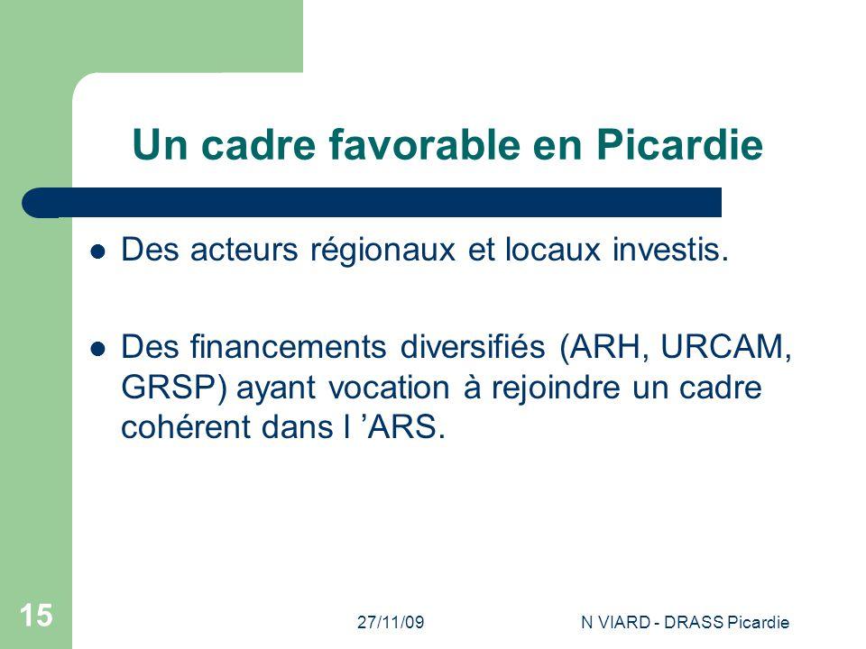 Un cadre favorable en Picardie