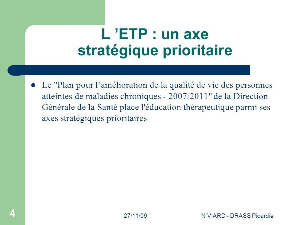 L 'ETP : un axe stratégique prioritaire