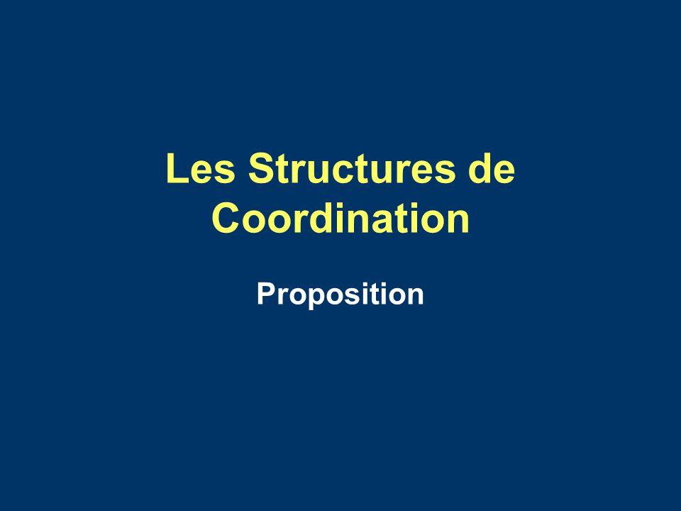 Les Structures de Coordination