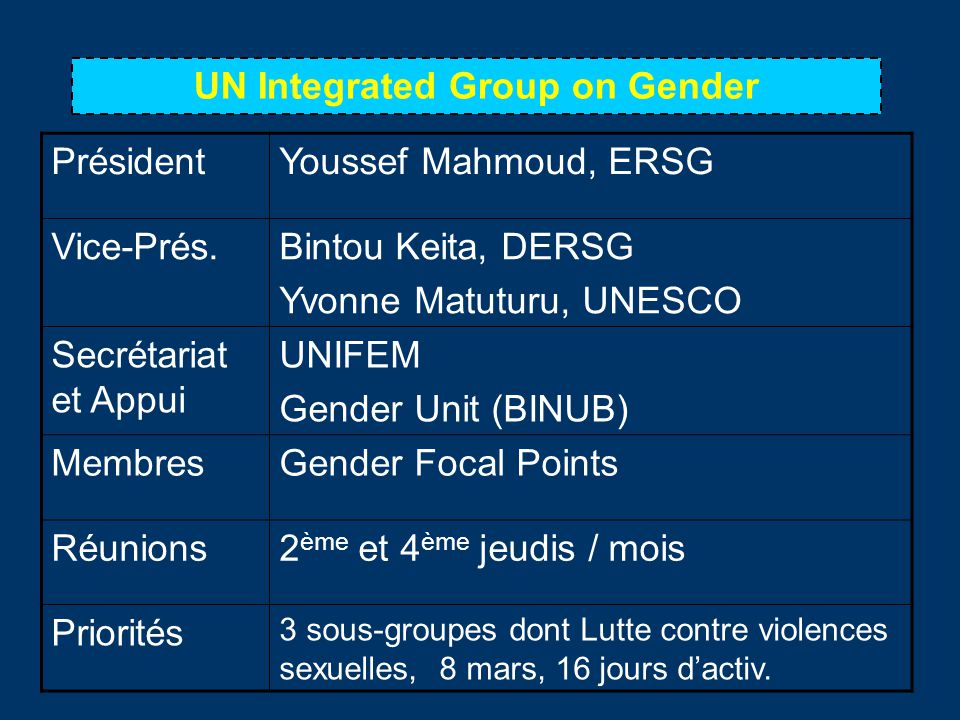UN Integrated Group on Gender