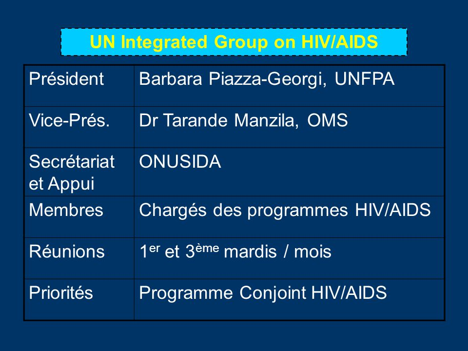 UN Integrated Group on HIV/AIDS