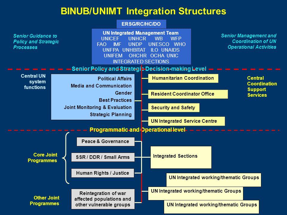 BINUB/UNIMT Integration Structures
