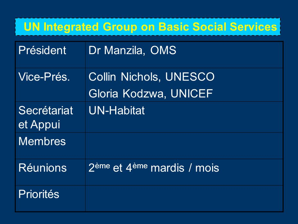 UN Integrated Group on Basic Social Services