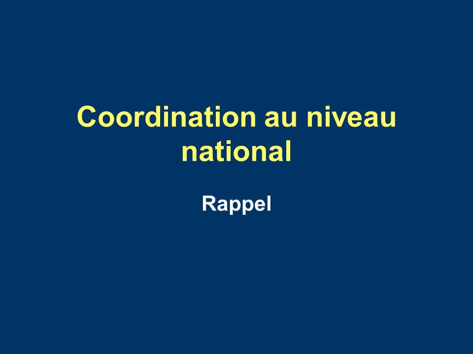 Coordination au niveau national
