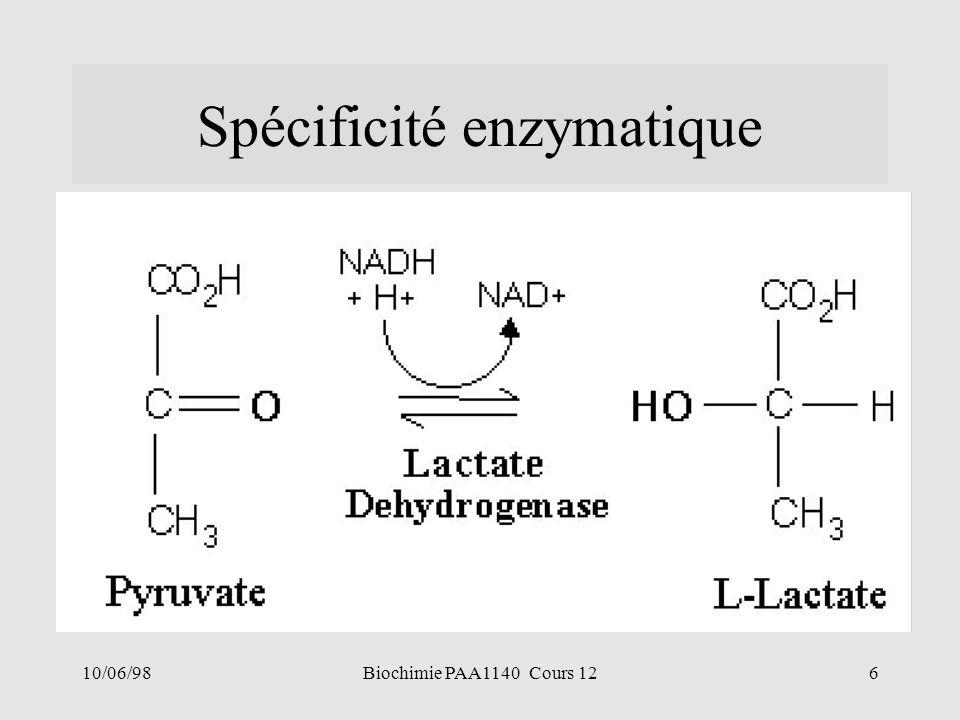 Spécificité enzymatique