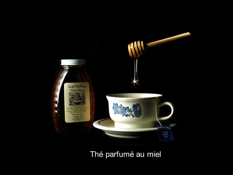 Thé parfumé au miel