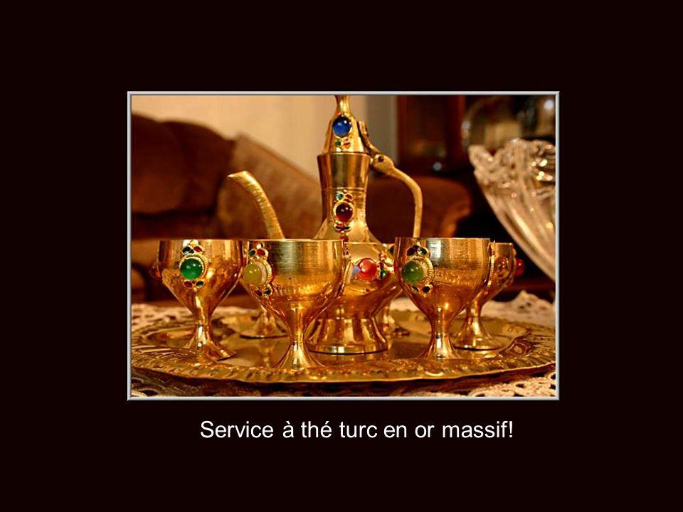 Service à thé turc en or massif!