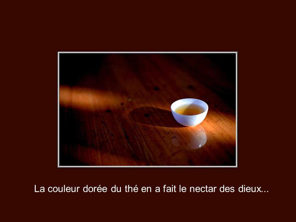 La couleur dorée du thé en a fait le nectar des dieux...