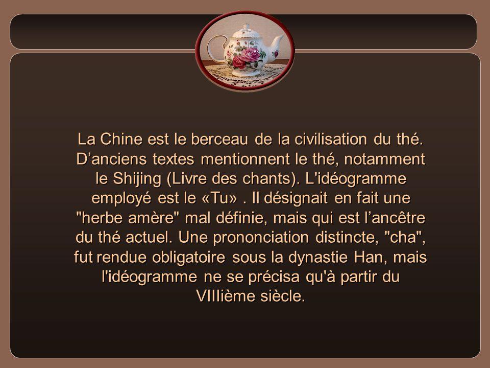 La Chine est le berceau de la civilisation du thé