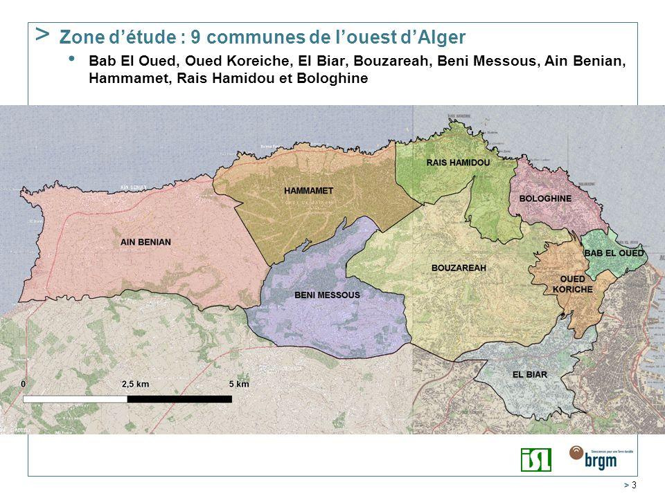 Zone d'étude : 9 communes de l'ouest d'Alger