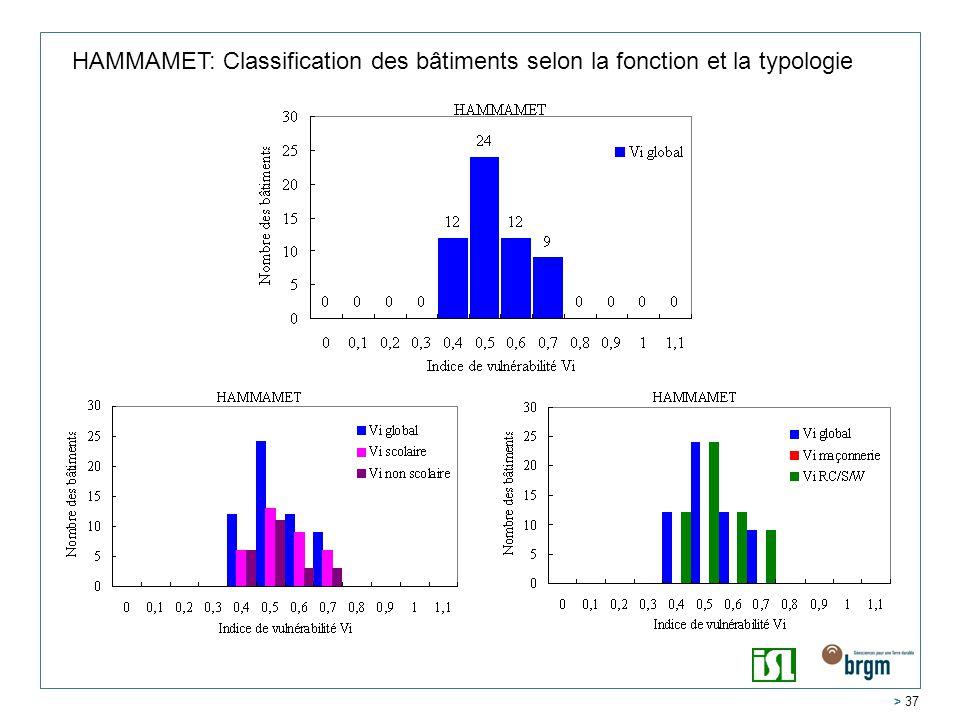 HAMMAMET: Classification des bâtiments selon la fonction et la typologie